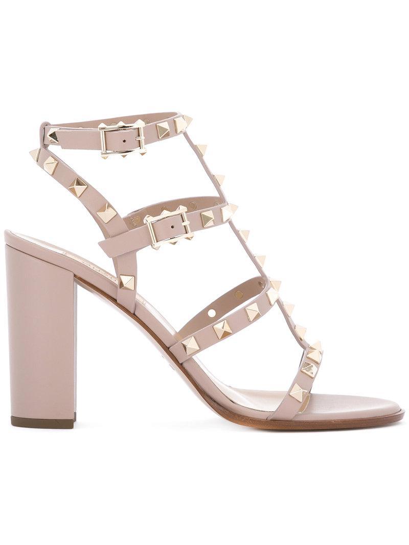 Valentino Garavani Love Stud sandals - Nude & Neutrals Valentino 724e7fPL6