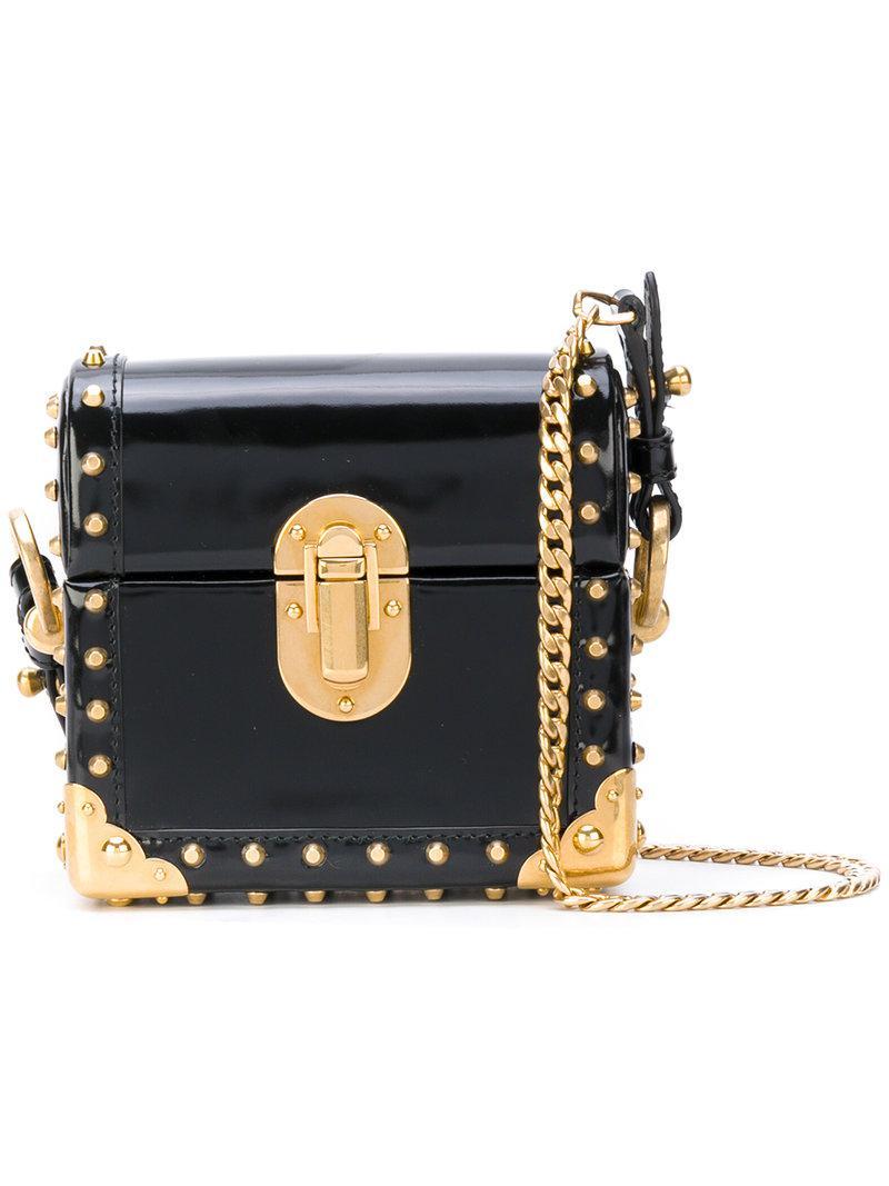90c384ead48c Prada Cahier Box Bag in Black - Lyst