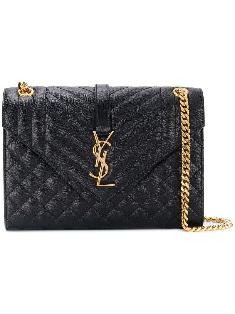 459f975b8bb2 Lyst - Saint Laurent Collège Shoulder Bag in Black