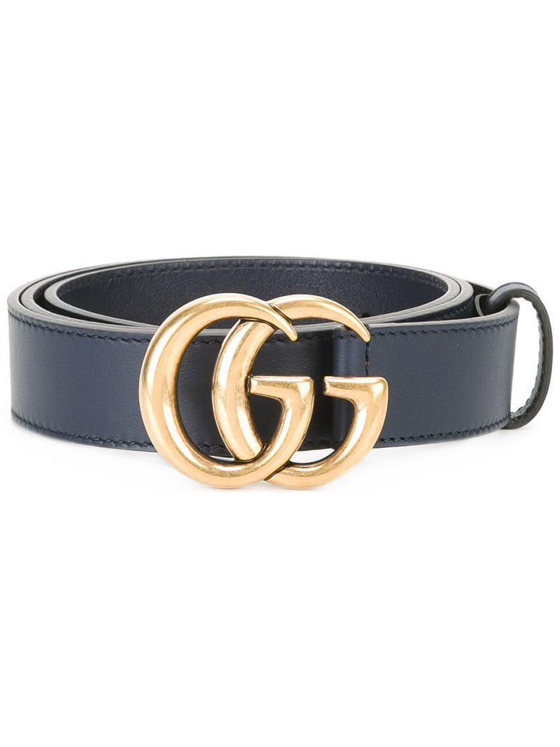0bf3521a9 Gucci Interlocking GG Buckle Belt in Blue for Men - Lyst