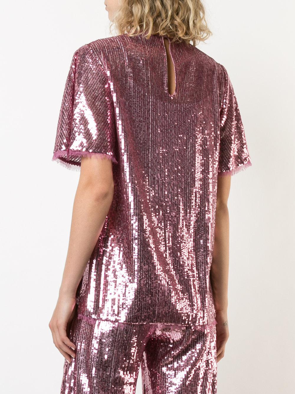 Thomson sequined blouse - Pink & Purple Prabal Gurung