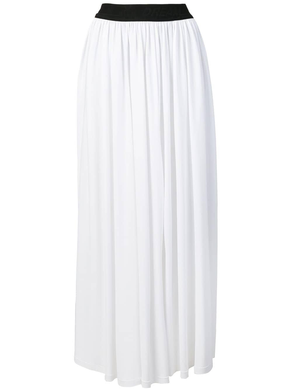 99f3a570b Falda larga con pliegues MSGM de color Blanco - Lyst