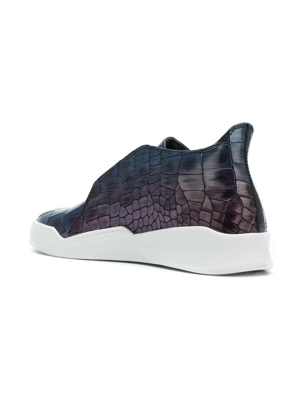 hi-top croc effect sneakers - Blue Last Sole xIJW1vtpfw