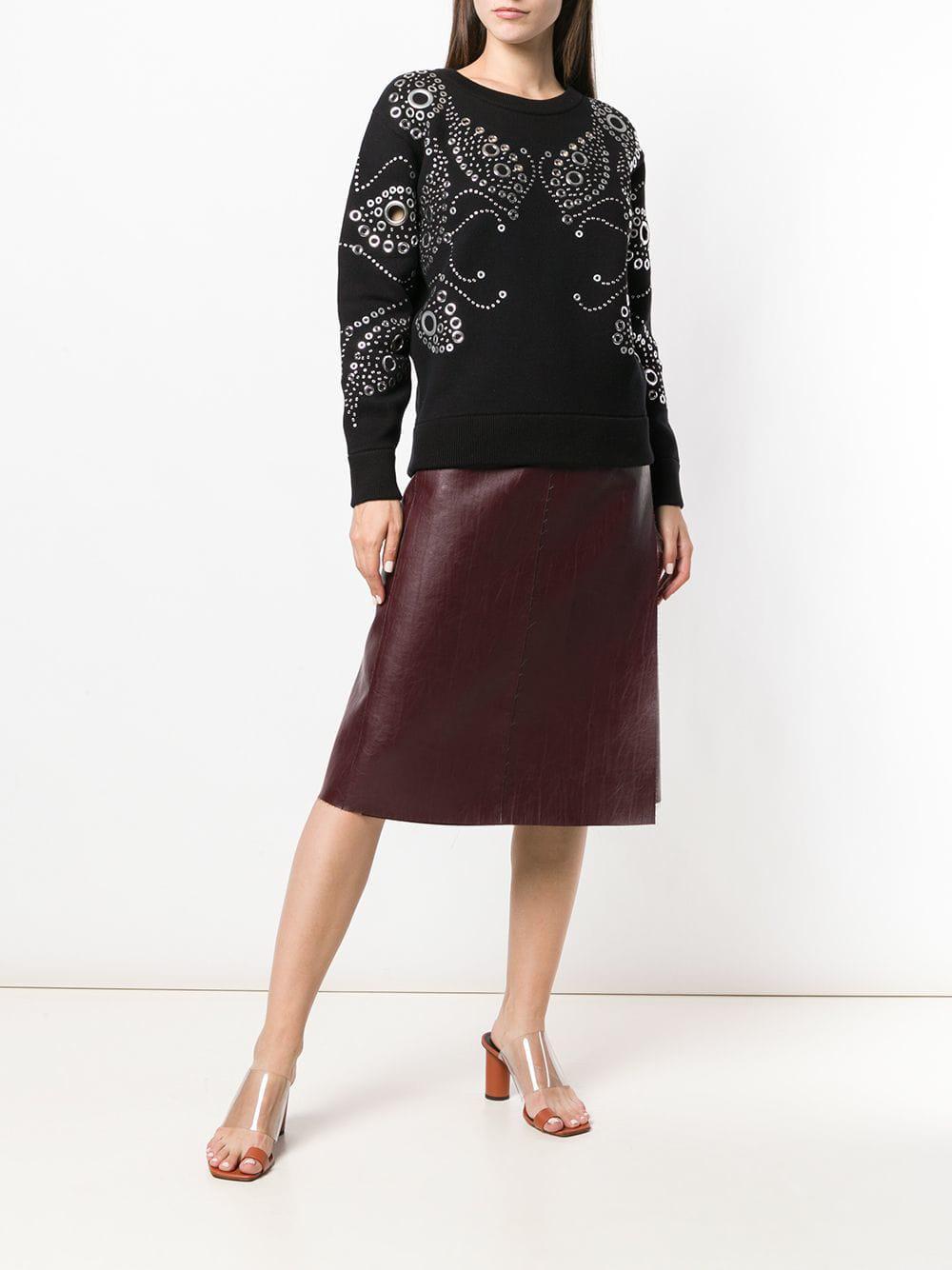 b996db290c9 MICHAEL Michael Kors Studded Detail Sweatshirt in Black - Lyst