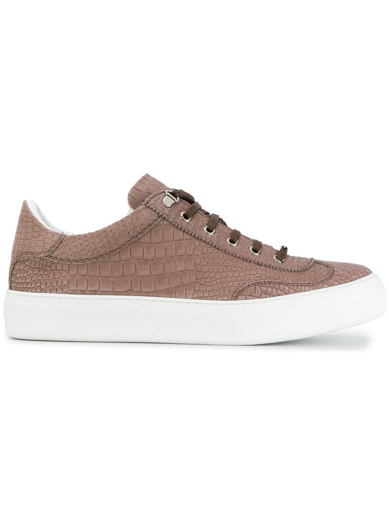 Ace low-top crocodile-effect nubuck trainers Jimmy Choo London 07R6P