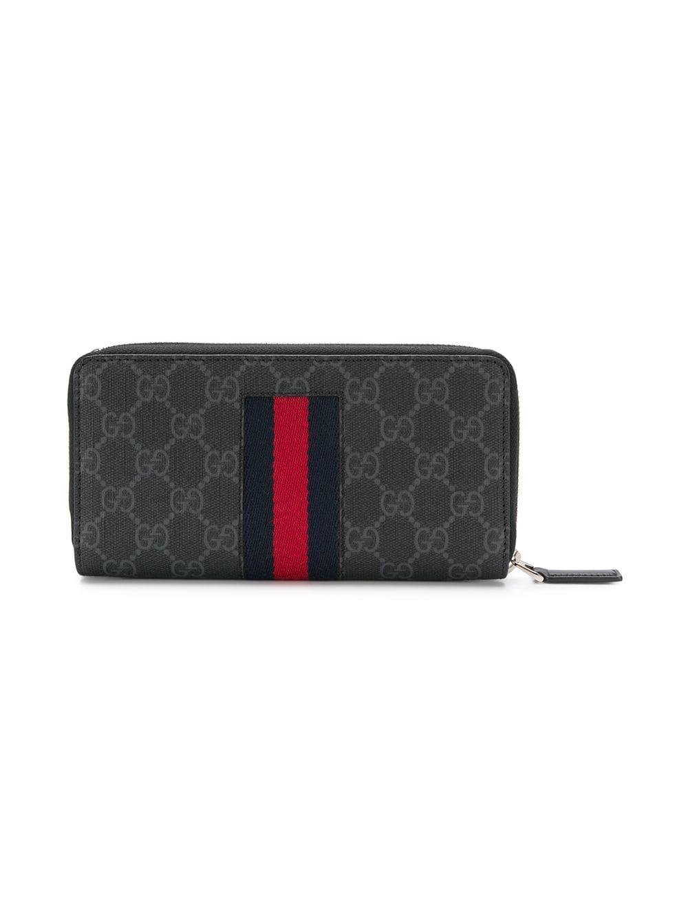 65348b23aa9 Lyst - Gucci GG Supreme Wallet in Black for Men - Save ...