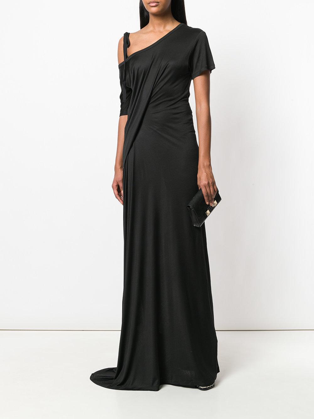 drop-shoulder maxi dress - Black Ann Demeulemeester CbwnzsOKK4