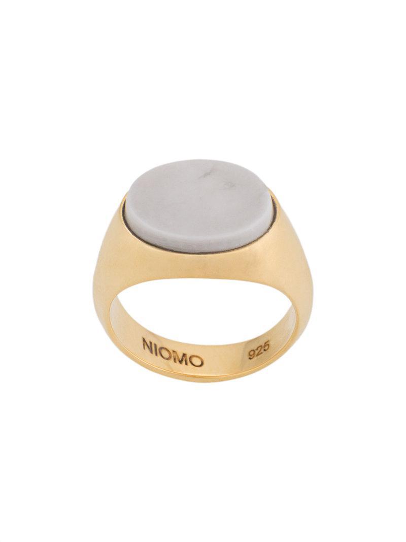Niomo Philomena oval ring - Metallic 6syyhMsAca