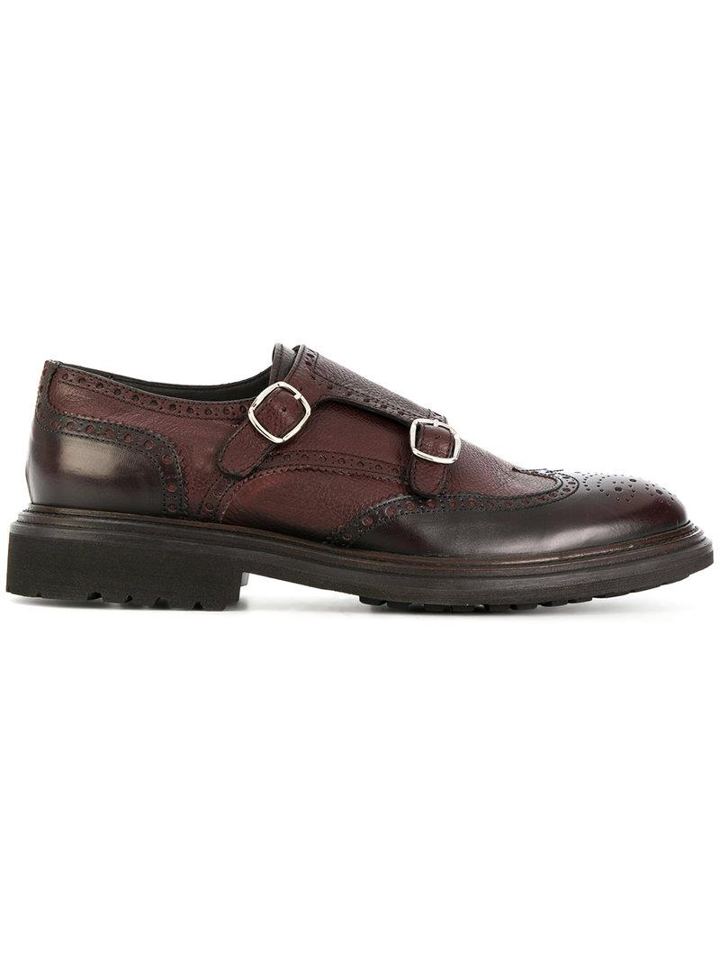 DELL'OGLIO Cross strap monk shoes