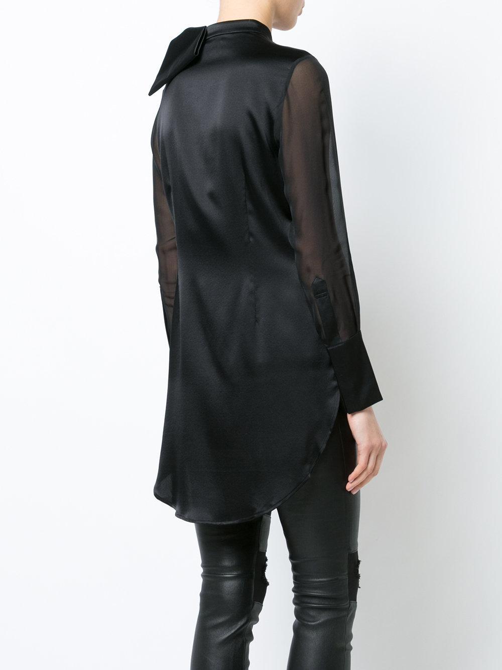 Thomas Wylde Lyst de adornada negro Camisa con lazo pqzS8wF
