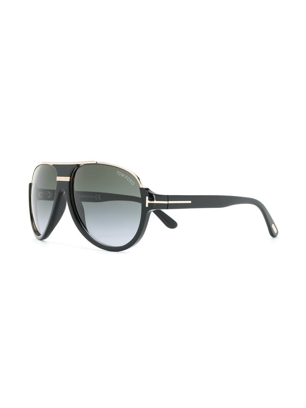 aaa7ad3283e Lyst - Tom Ford Dimitry Aviator Sunglasses in Black