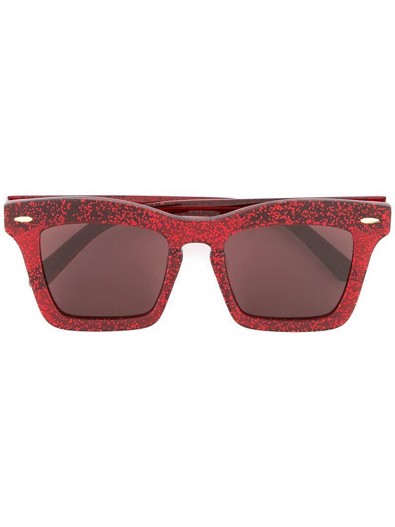 a03107a13c Karen Walker Banks Glitter Sunglasses in Red - Lyst