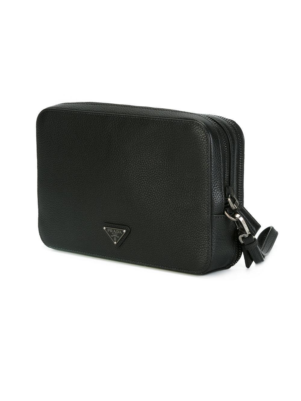 3551a430ca10 Prada - Hand-strap Clutch - Men - Calf Leather - One Size in Black ...