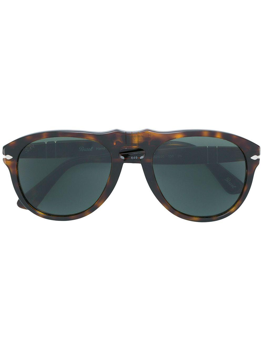 fc99865bed5 Persol Aviator Sunglasses in Brown - Lyst