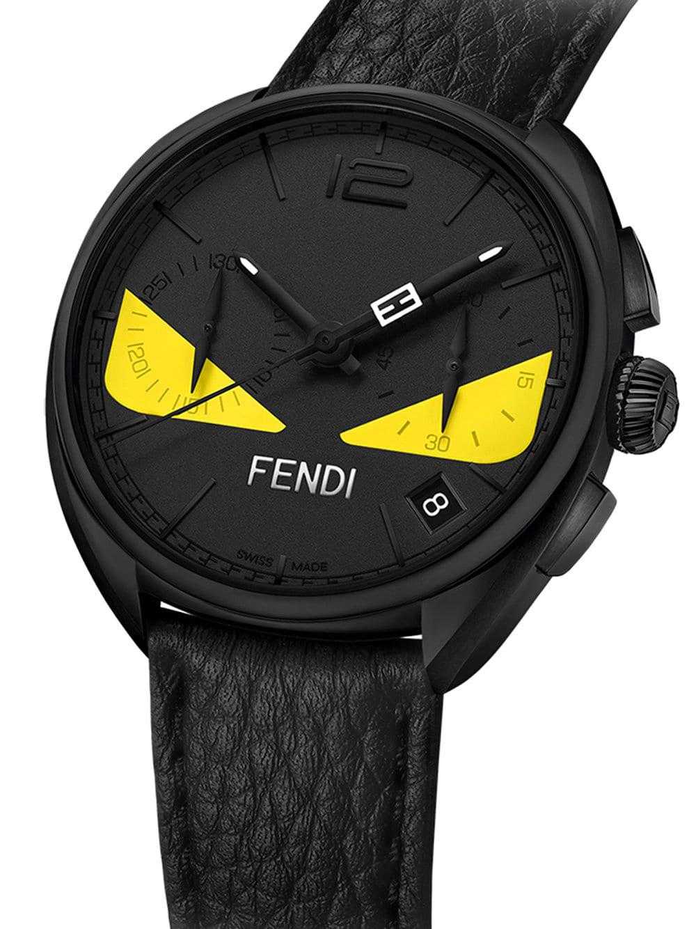 db02a2cc8 Fendi - Black Momento Bugs Watch for Men - Lyst. View fullscreen