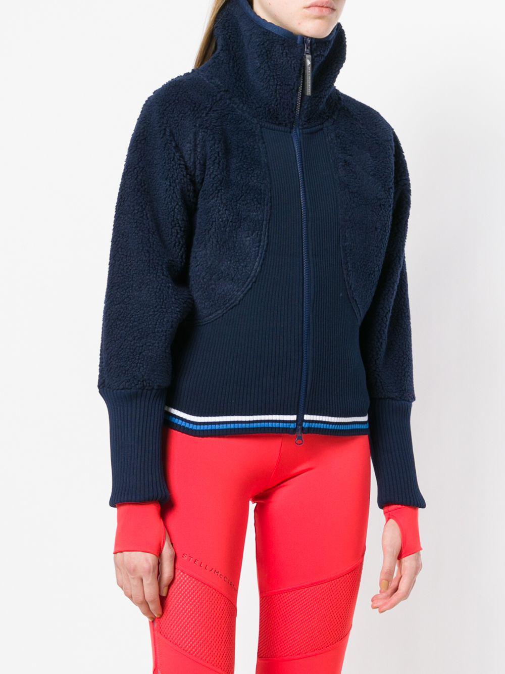 reputable site 32618 2bd05 adidas By Stella McCartney Ribbed Teddy Track Jacket in Blue - Lyst