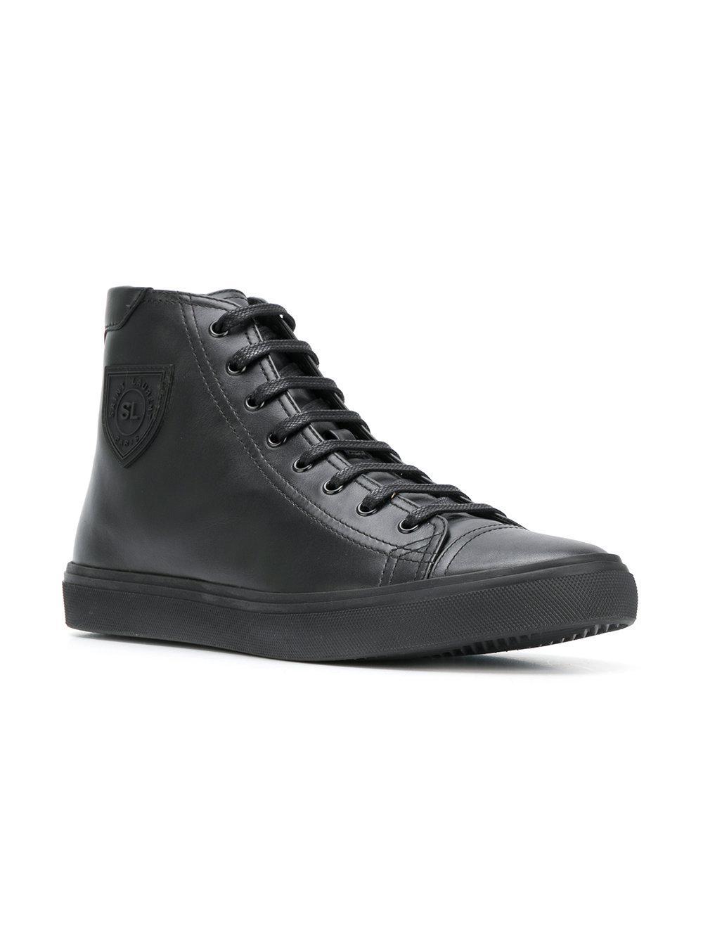 f131dafe2ab9 Saint Laurent - Black Bedford Sneakers for Men - Lyst. View fullscreen