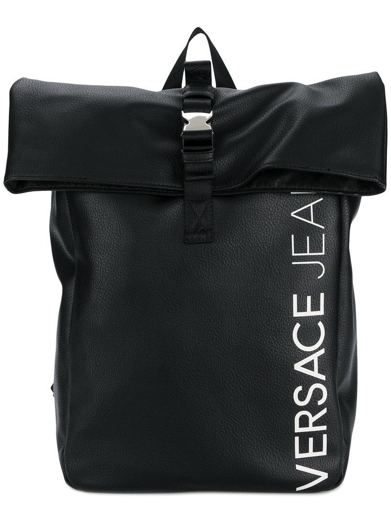 7e21c54d9747f2 Versace Jeans Foldover Backpack in Black for Men - Lyst