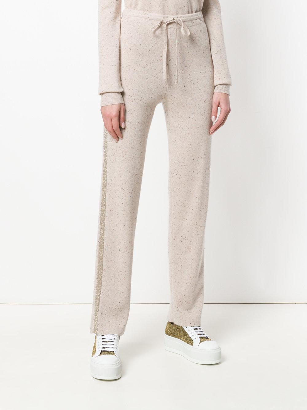 side stripe track pants - Nude & Neutrals Sonia Rykiel Recommend 5M9Z4BW