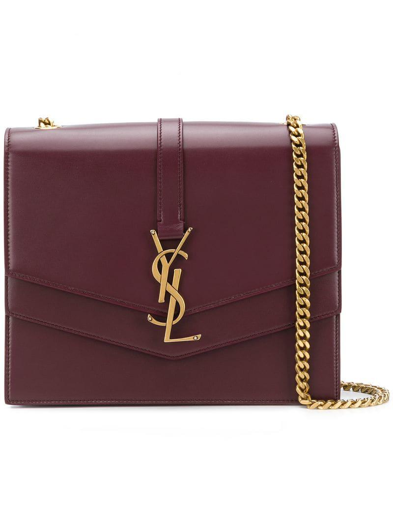 be50df85590 Saint Laurent Medium Sulpice Shoulder Bag in Red - Lyst