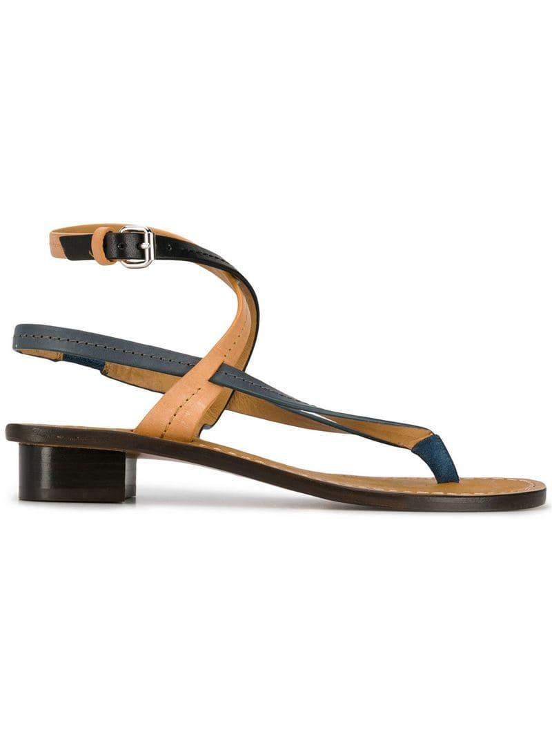 4e41b3700 Lyst - Isabel Marant Ankle Strap Sandals in Black