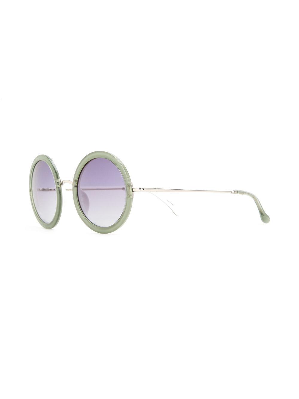 ad21257e9777 Linda Farrow The Row 8 Sunglasses in Green - Lyst
