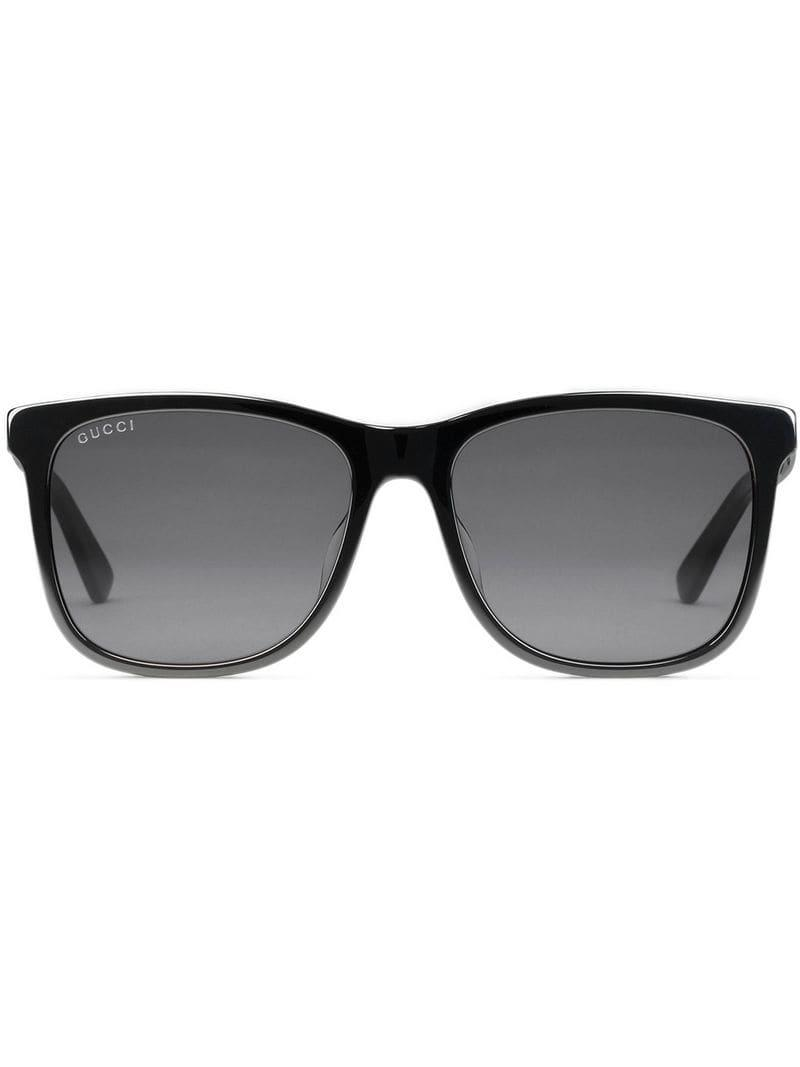 d6bc5958947 Gucci - Black Square-frame Acetate Sunglasses for Men - Lyst. View  fullscreen