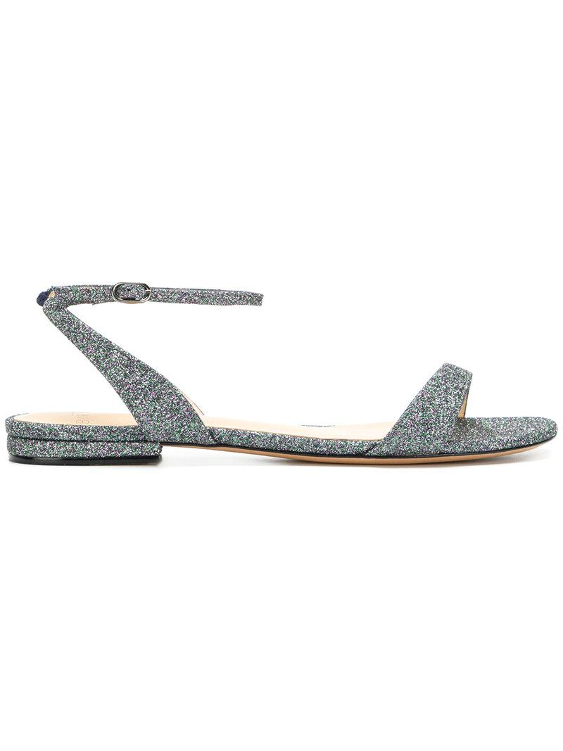 ALEXANDRE BIRMAN Glitter buckled sandals o9mbNfHMnj