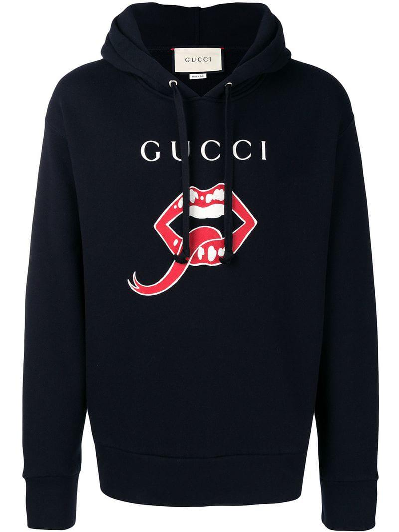 1943944eb70 Gucci - Black Logo Sweatshirt for Men - Lyst. View fullscreen
