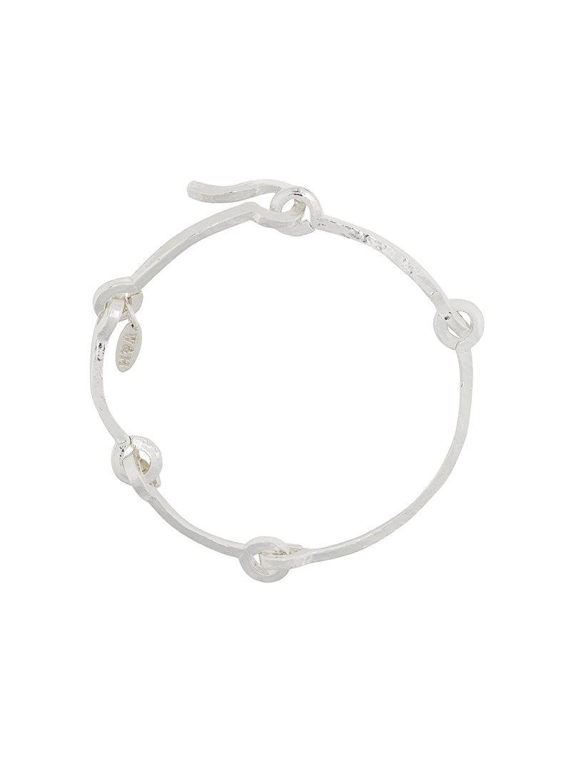 Technofossils hammered bracelet - Metallic Wouters & Hendrix bC96v9j52n