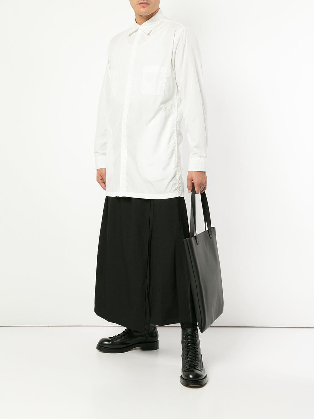5fd5ed44a6 Yohji Yamamoto - White Deconstructed Shirt for Men - Lyst. View fullscreen