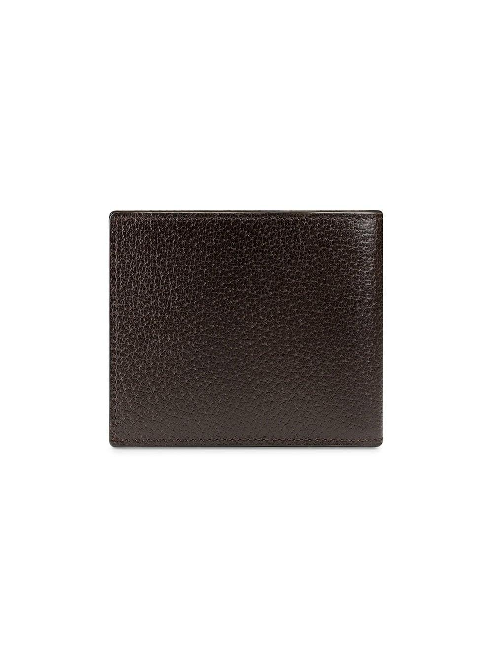 1eb42da1220ab8 Gucci GG Marmont Leather Bi-fold Wallet in Brown for Men - Lyst