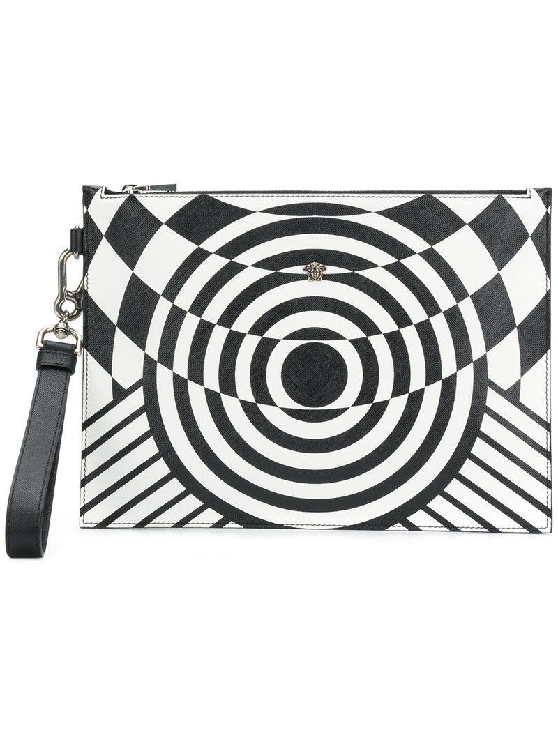 illusion effect clutch - Black Versace 45cbHF
