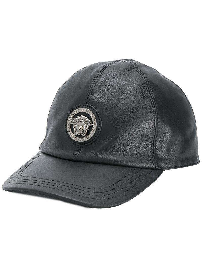 d28e1ae3c4e Lyst - Casquette à logo Medusa Versace pour homme en coloris Noir