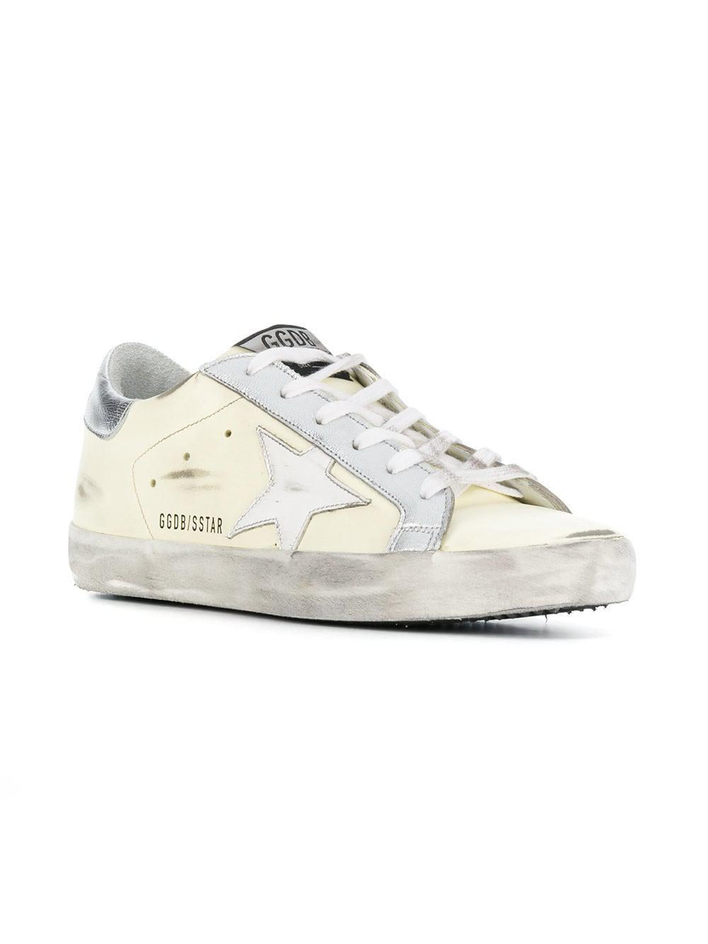 Brand Sneakers Yellow Deluxe Star Golden Up Lyst Goose Side Lace In FH1EEP
