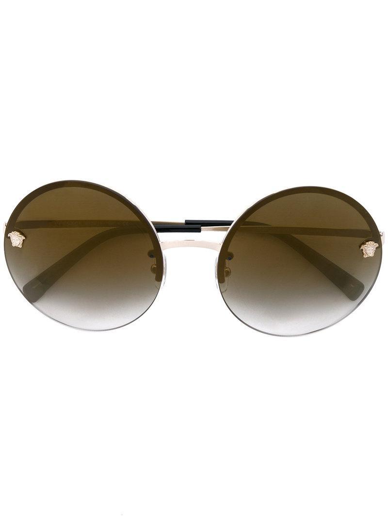 4415a99217 Lyst - Versace Round Medusa Sunglasses