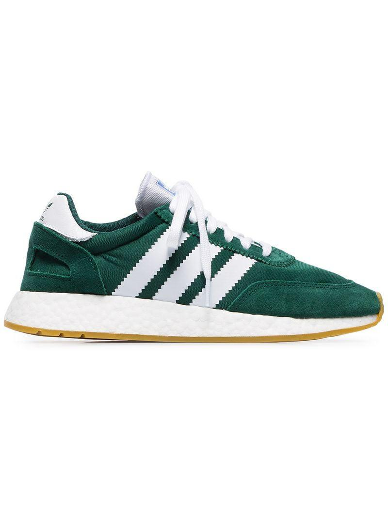 c4aa71aa250 Lyst - adidas Green And White I-5923 Mesh And Suede Leather Sneakers ...