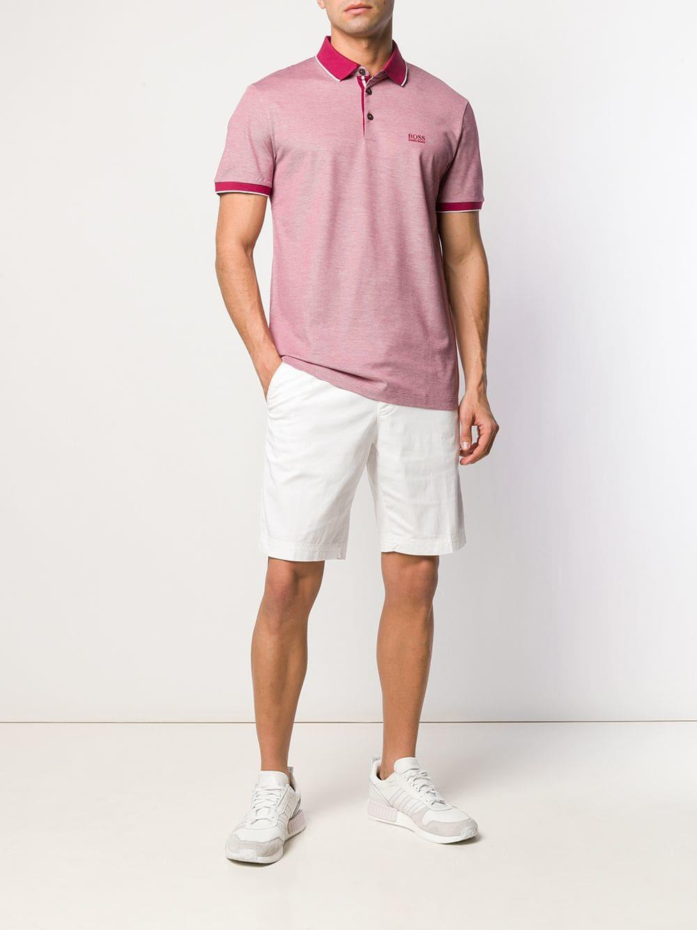 677a98dc BOSS Prout Polo Shirt in Pink for Men - Lyst