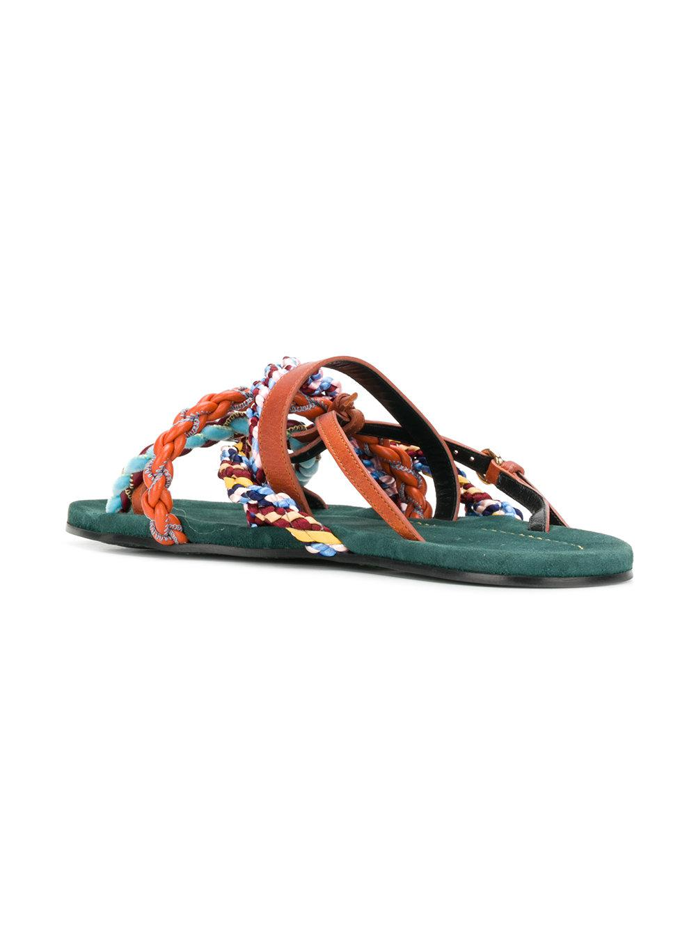 braided sandals - Green Carven vmvY6