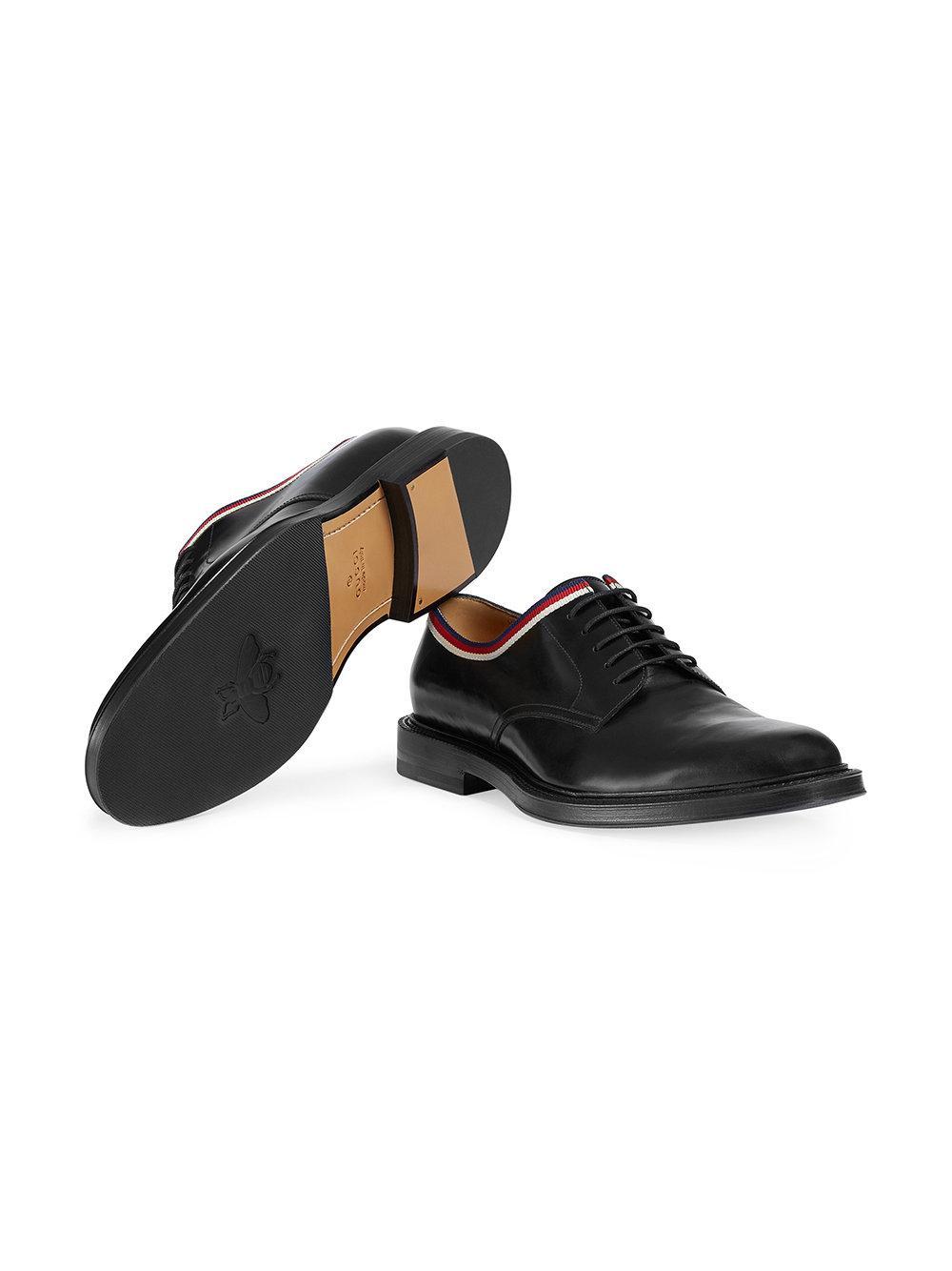 15d93da411d Gucci - Black Leather Lace-up for Men - Lyst. View fullscreen