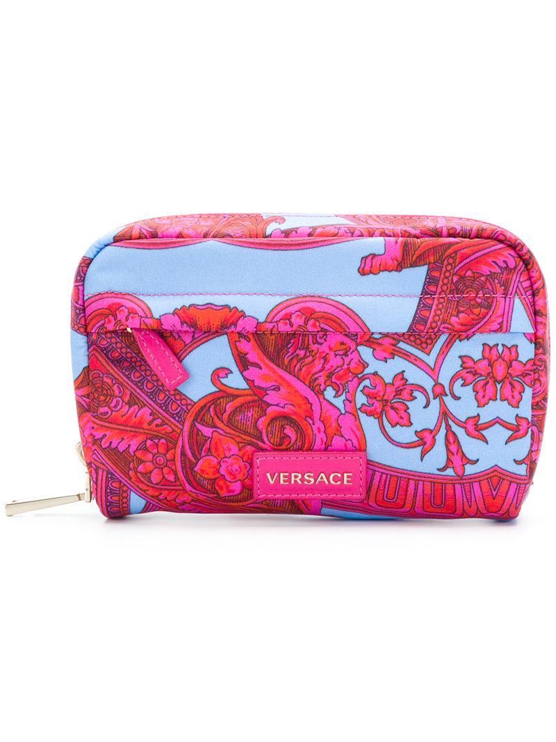 Versace Baroccoflage make-up bag - Pink & Purple 5wtnsj