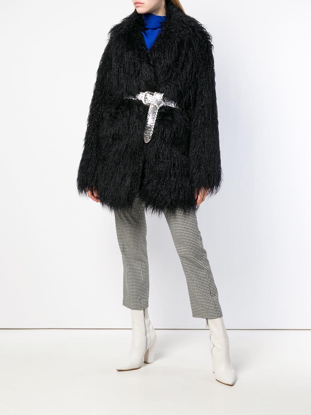 ... Martin Margiela - Black Faux Fur shaggy Coat - Lyst. View fullscreen 884326664cf31