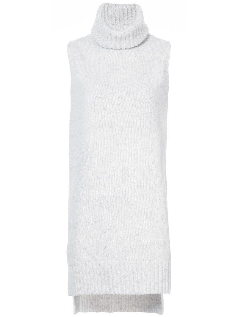 30c38de3ebd Lyst - Adam Lippes Sleeveless Roll Neck Jumper in White