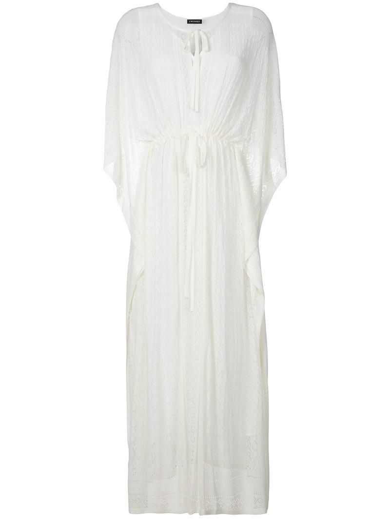 drawstring dress - White Twin-Set 7gwZzusFvT
