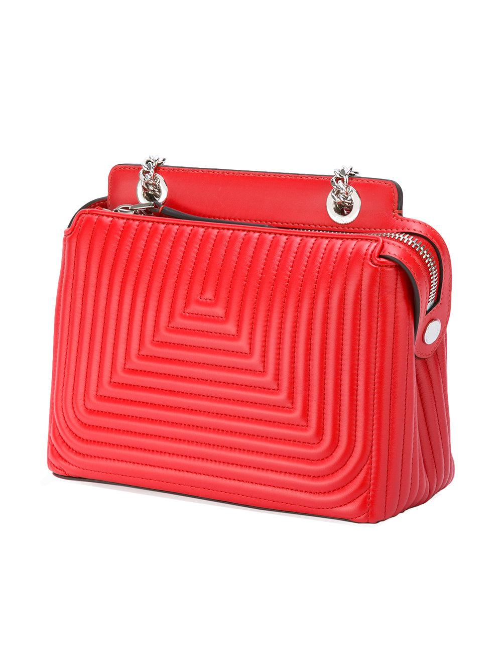 f969acca2a13 Lyst - Fendi Dotcom Click Shoulder Bag in Red