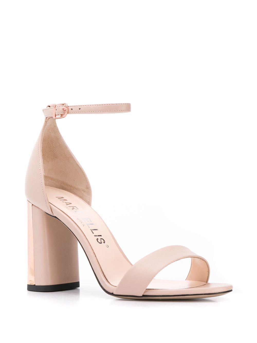 dc56a4bb651c Marc Ellis Block Heel Sandals in Pink - Lyst
