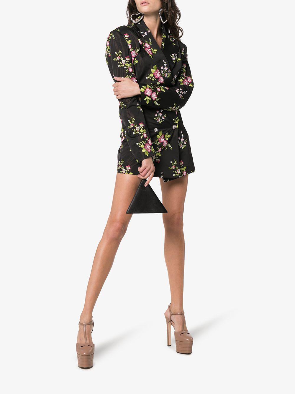 b0def8e727ce Gucci Porcelain Rose Stacked Platform Leather Heels - Lyst