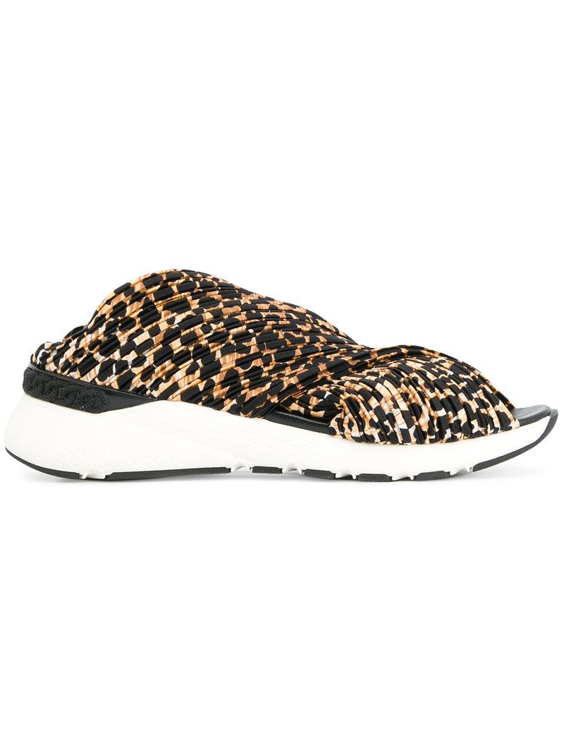 Cheap Inexpensive Casadei Leopard print sneaker sandals Shop Sale Online 0NI03