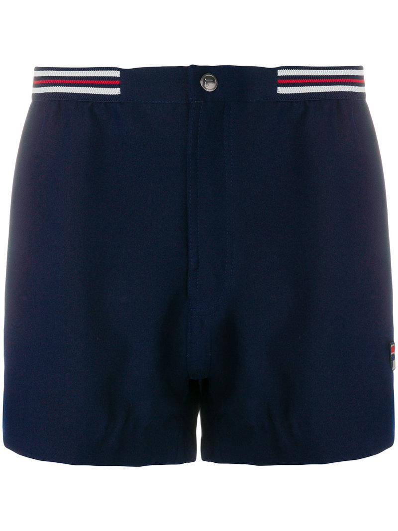 db0dc36fd559 Lyst - Fila Striped Waistband Shorts in Blue for Men
