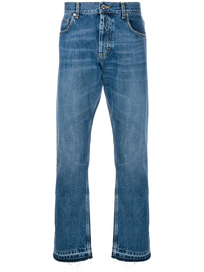 straight fit jeans - Blue Alexander McQueen